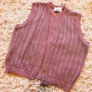 Vintage Devon Lilac Pink Sleeveless Vest